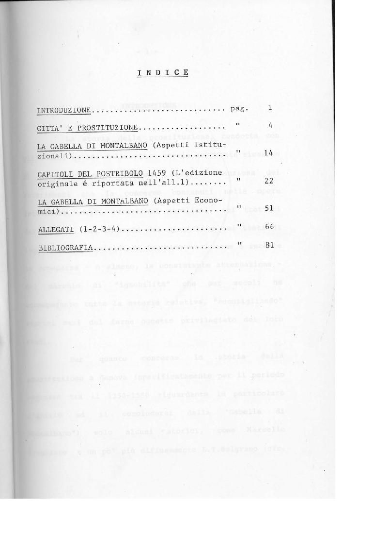 Indice della tesi: La gabella di Montalbano, Pagina 1