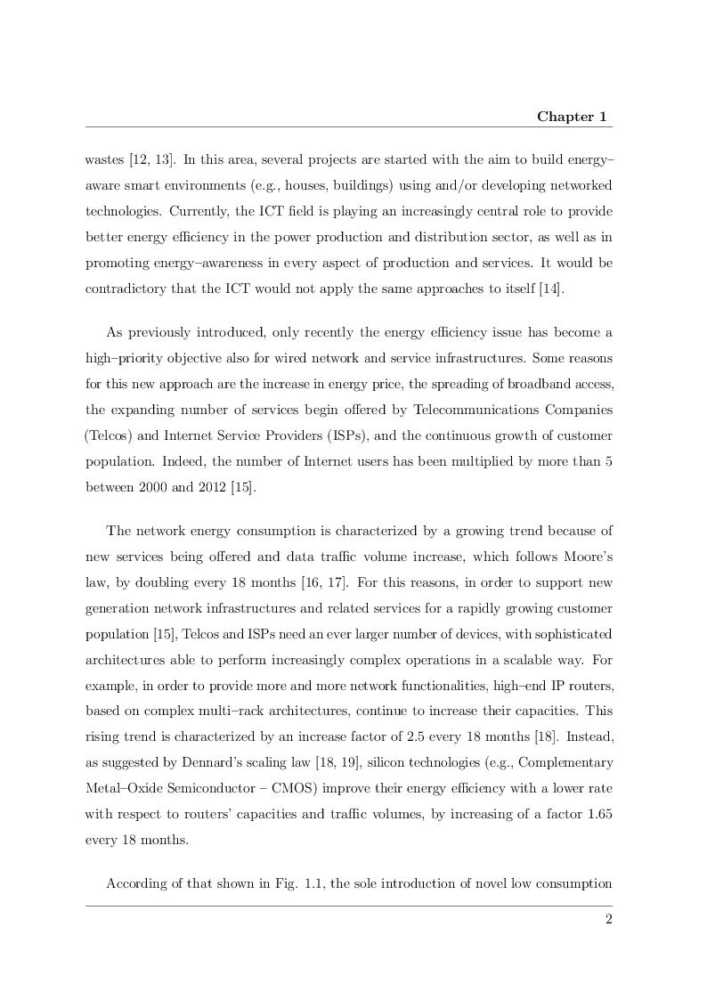 Estratto dalla tesi: Techniques for Optimal Exploitation of Green Networking Capabilities in Future Internet Devices