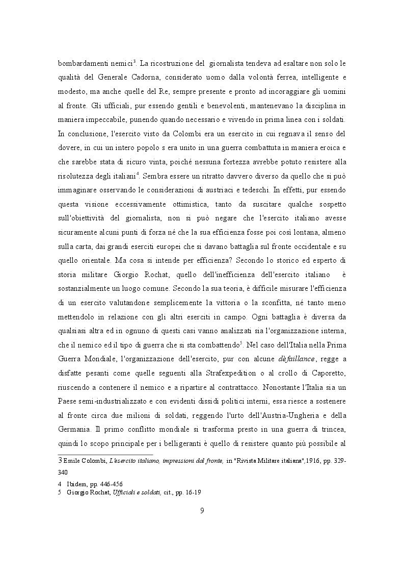 Estratto dalla tesi: L'efficacia dei soldati in combattimento: motivazioni e morale dell'esercito italiano nelle due guerre mondiali