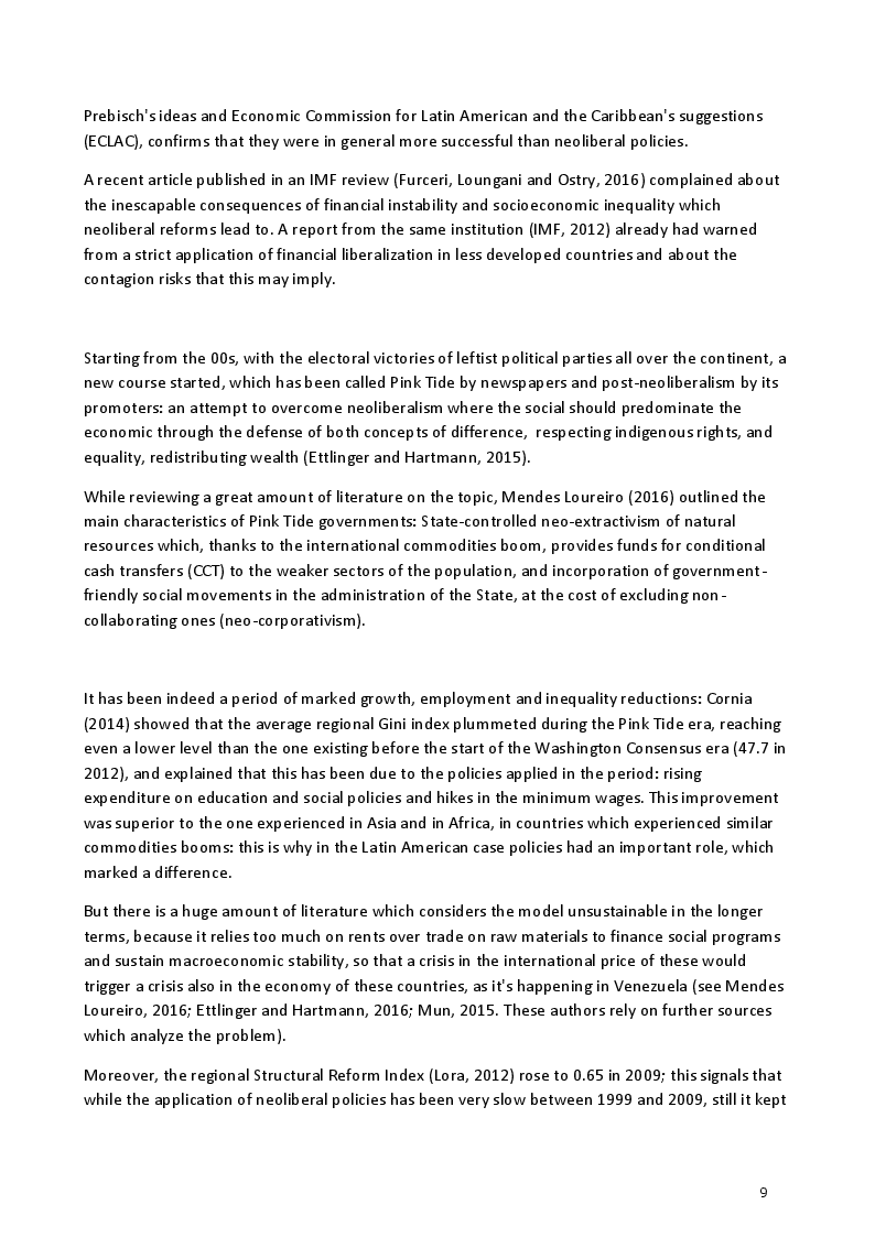 Estratto dalla tesi: Is Evo's Bolivia out of neoliberalism?