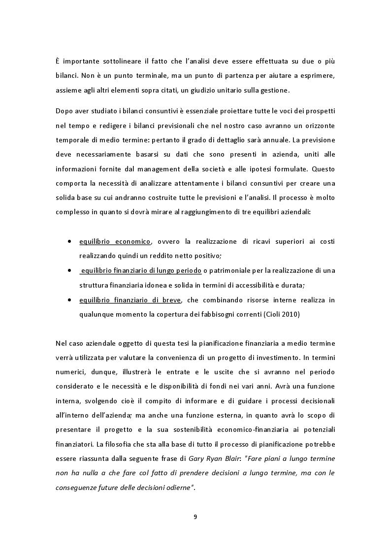 Estratto dalla tesi: La pianificazione economico-finanziaria nella valutazione di un investimento in attivo fisso - Il caso Metal Working s.r.l.