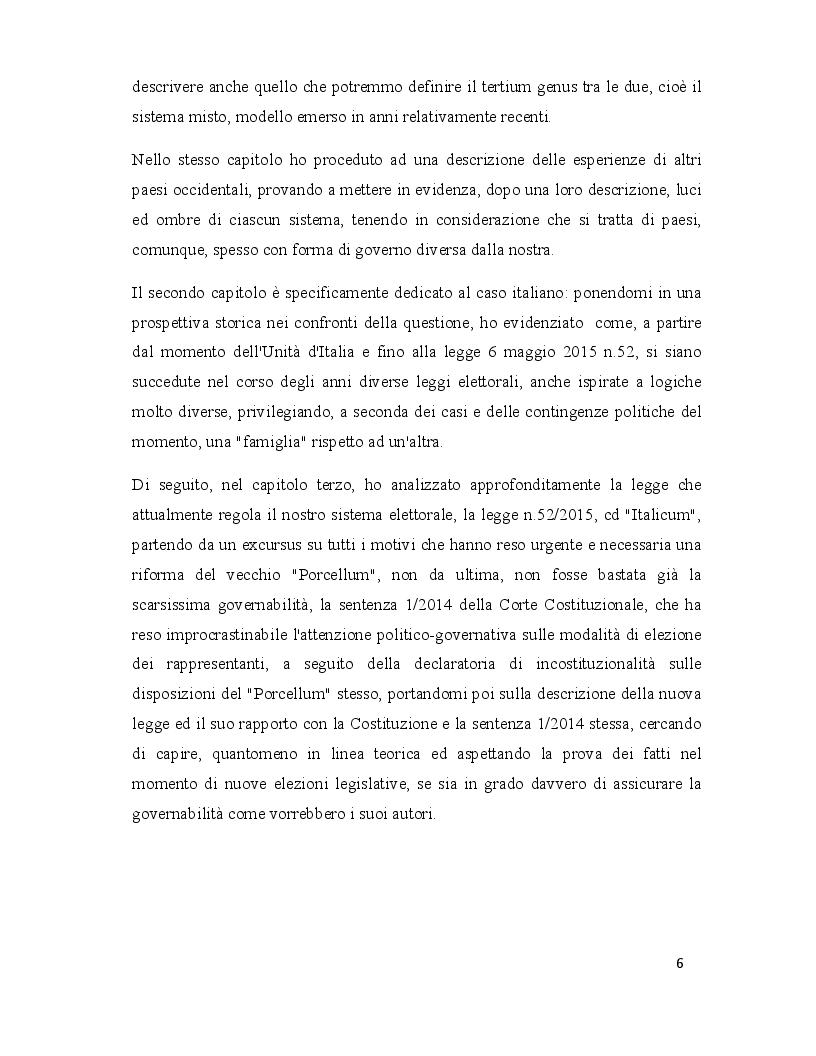Anteprima della tesi: Legge elettorale: analisi dell'Italicum e prospettive di comparazione con altri stati occidentali, Pagina 3