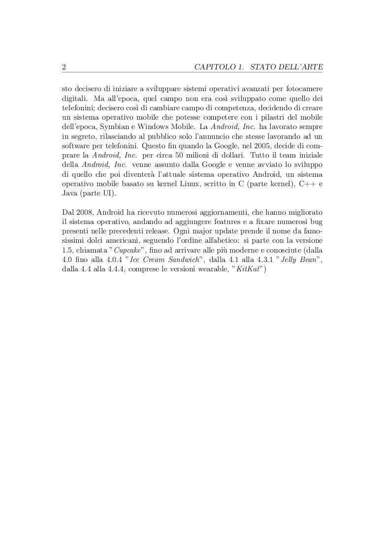 Anteprima della tesi: Realizzazione di un'applicazione mobile Android basata su interazioni con interfacce API di diversi servizi., Pagina 6