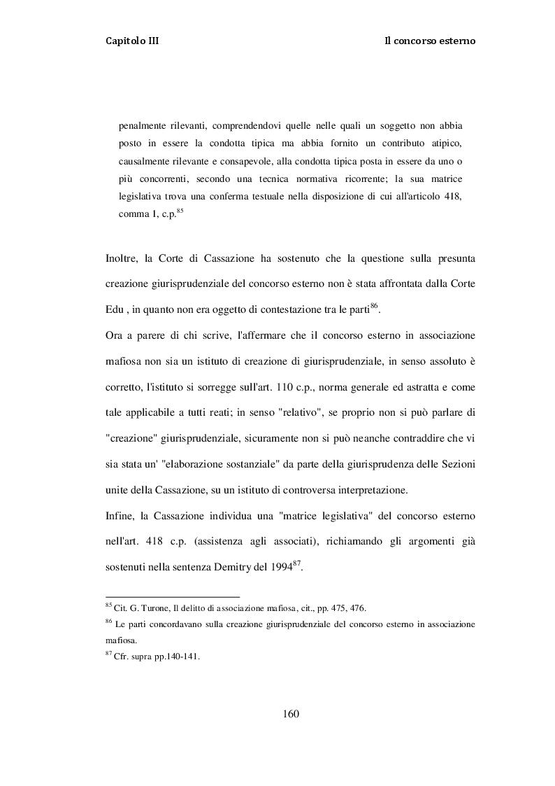 Estratto dalla tesi: La incriminazione dell'associazione di tipo mafioso: profili storici e problematiche interpretative