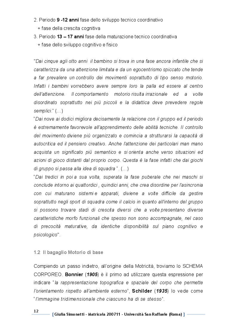 Estratto dalla tesi: BodyFit® Soccer: Metodo Funzionale neuromuscolare