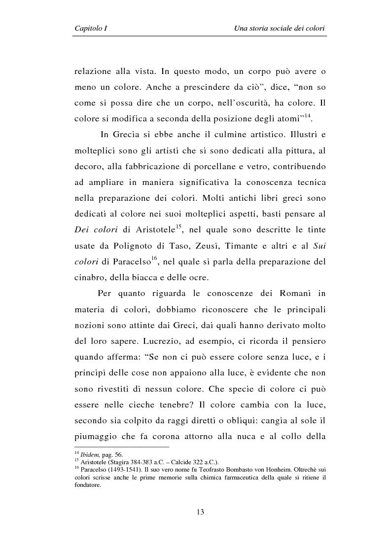 Anteprima della tesi: Il colore: dal simbolo alla campagna pubblicitaria, Pagina 13