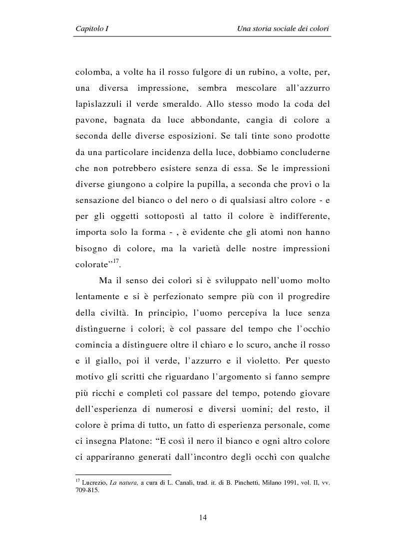 Anteprima della tesi: Il colore: dal simbolo alla campagna pubblicitaria, Pagina 14