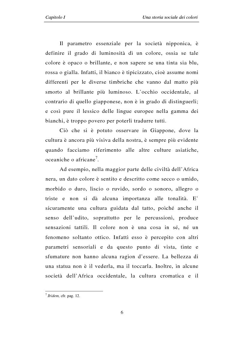 Anteprima della tesi: Il colore: dal simbolo alla campagna pubblicitaria, Pagina 6