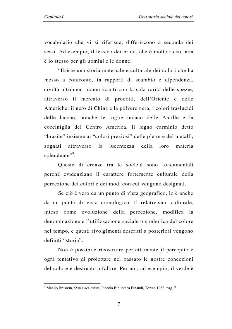Anteprima della tesi: Il colore: dal simbolo alla campagna pubblicitaria, Pagina 7