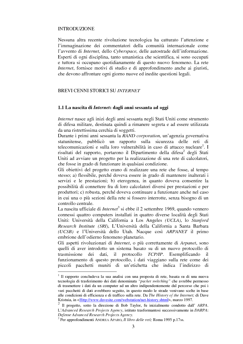 Anteprima della tesi: Il diritto comunitario e la tutela del consumatore nei contratti on-line, Pagina 1