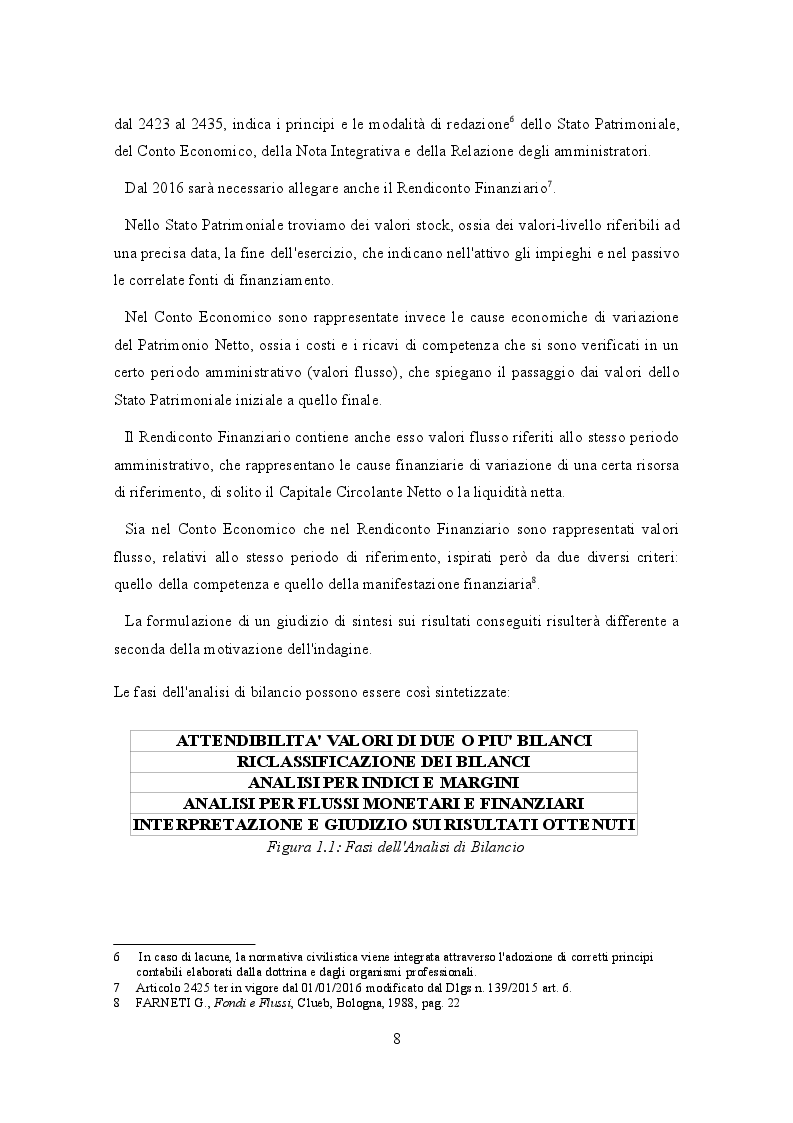 Anteprima della tesi: Analisi di bilancio per indici e flussi. Un caso aziendale, Pagina 5