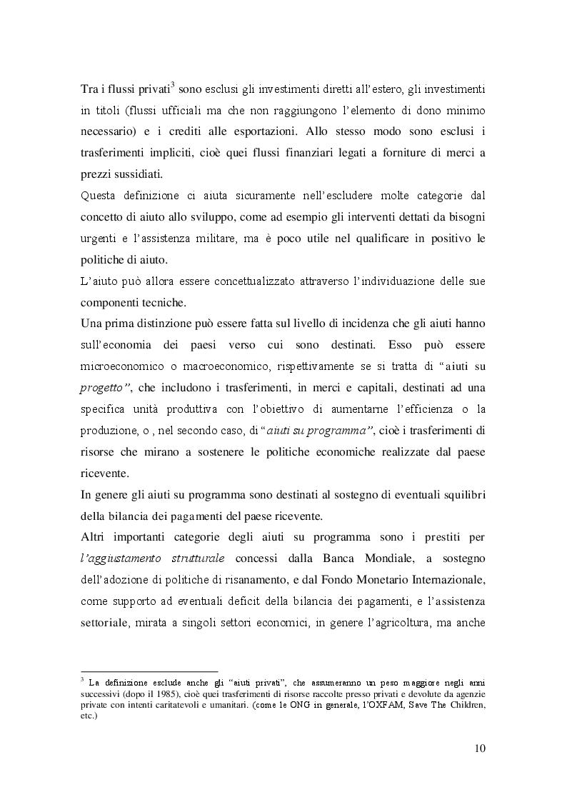 Estratto dalla tesi: Evoluzione  e prospettive delle politiche  di cooperazione allo sviluppo dell'Unione Europea