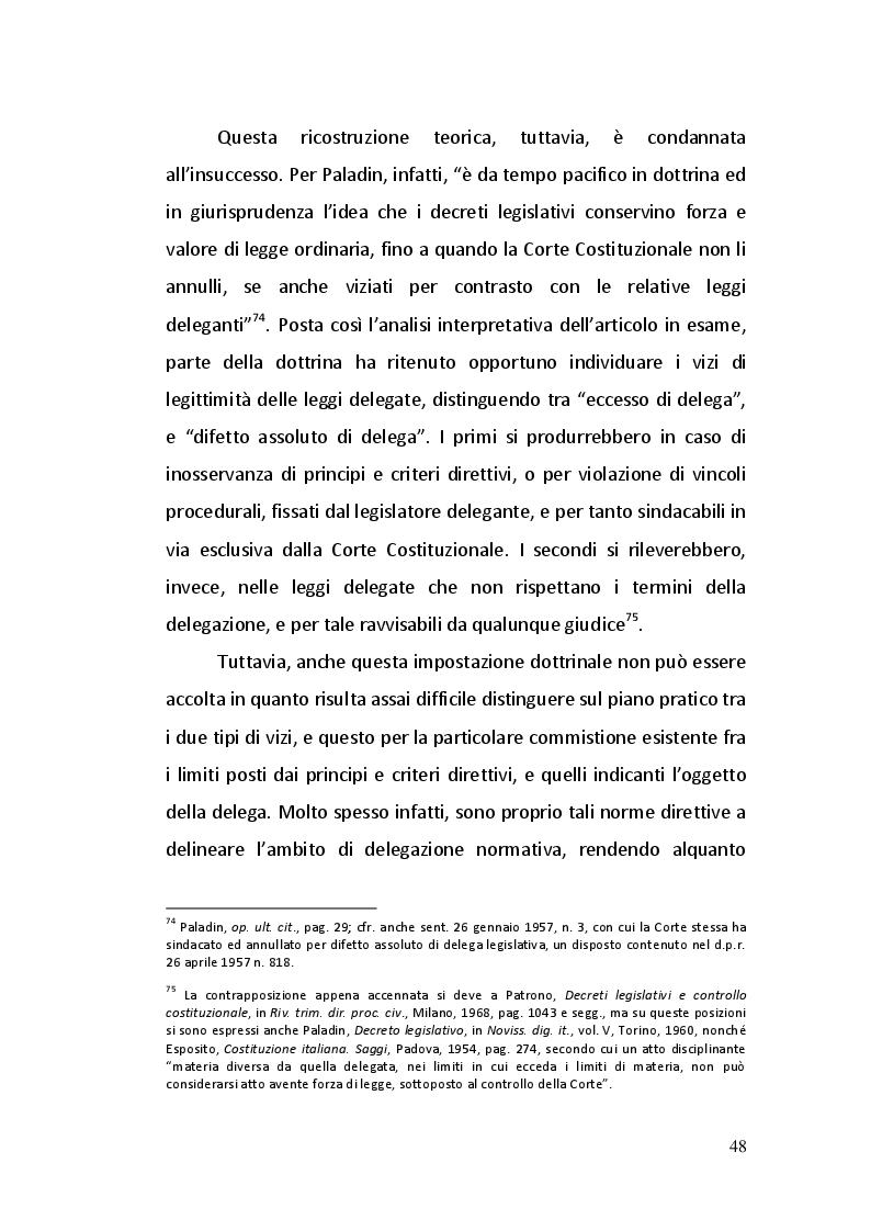 Estratto dalla tesi: Gli articoli 76 e 77 della Costituzione Italiana