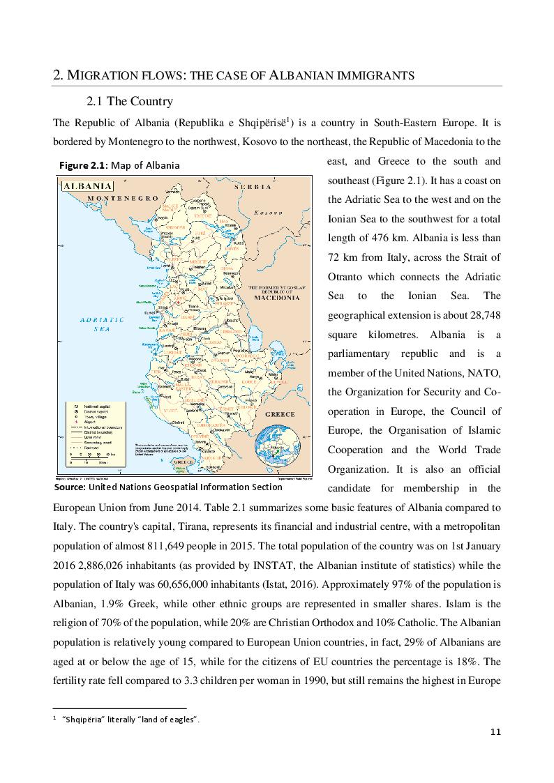 Estratto dalla tesi: Great Recession and Labour Market In Italy: The Case of Albanian Immigrants