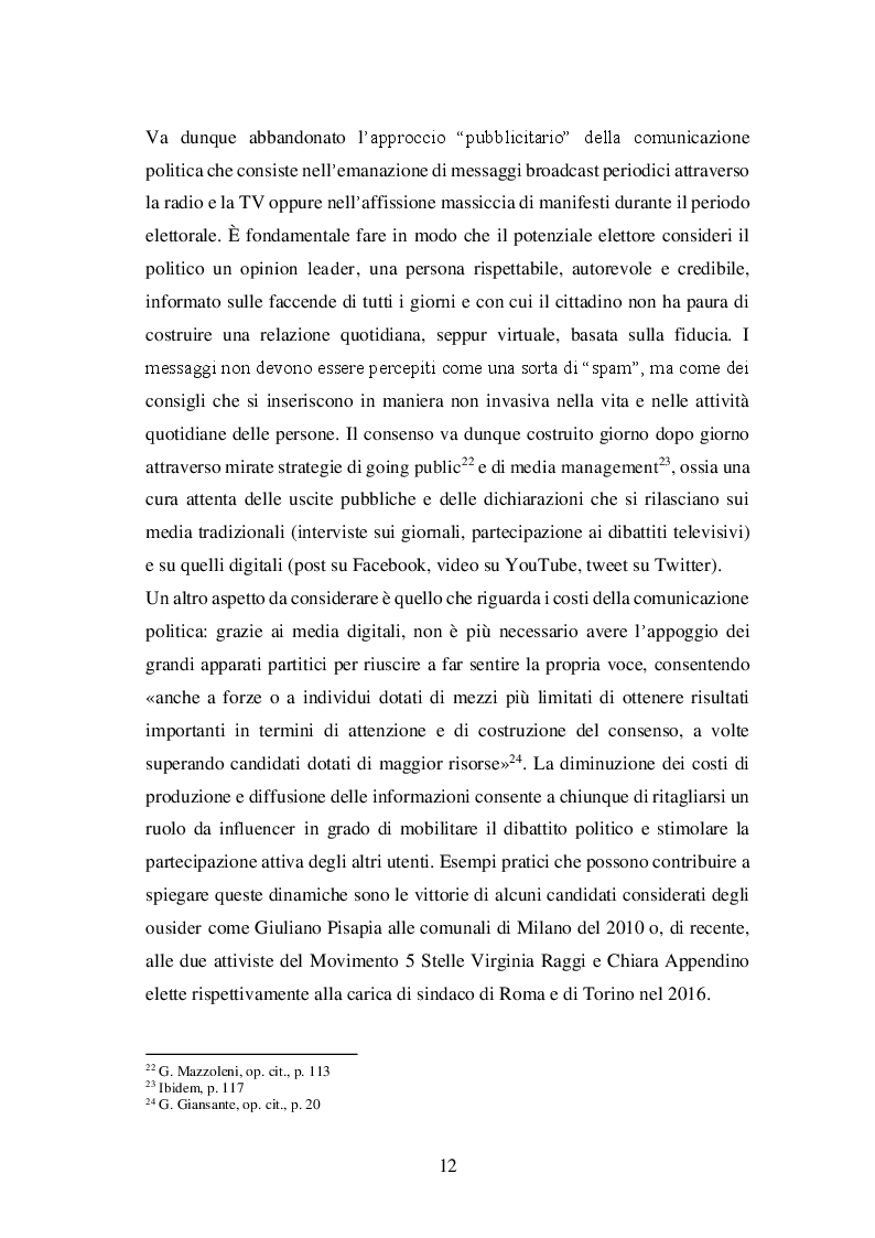 Estratto dalla tesi: #Napoli2016. Analisi statistico-lessicale della Campagna Elettorale per le Elezioni Comunali