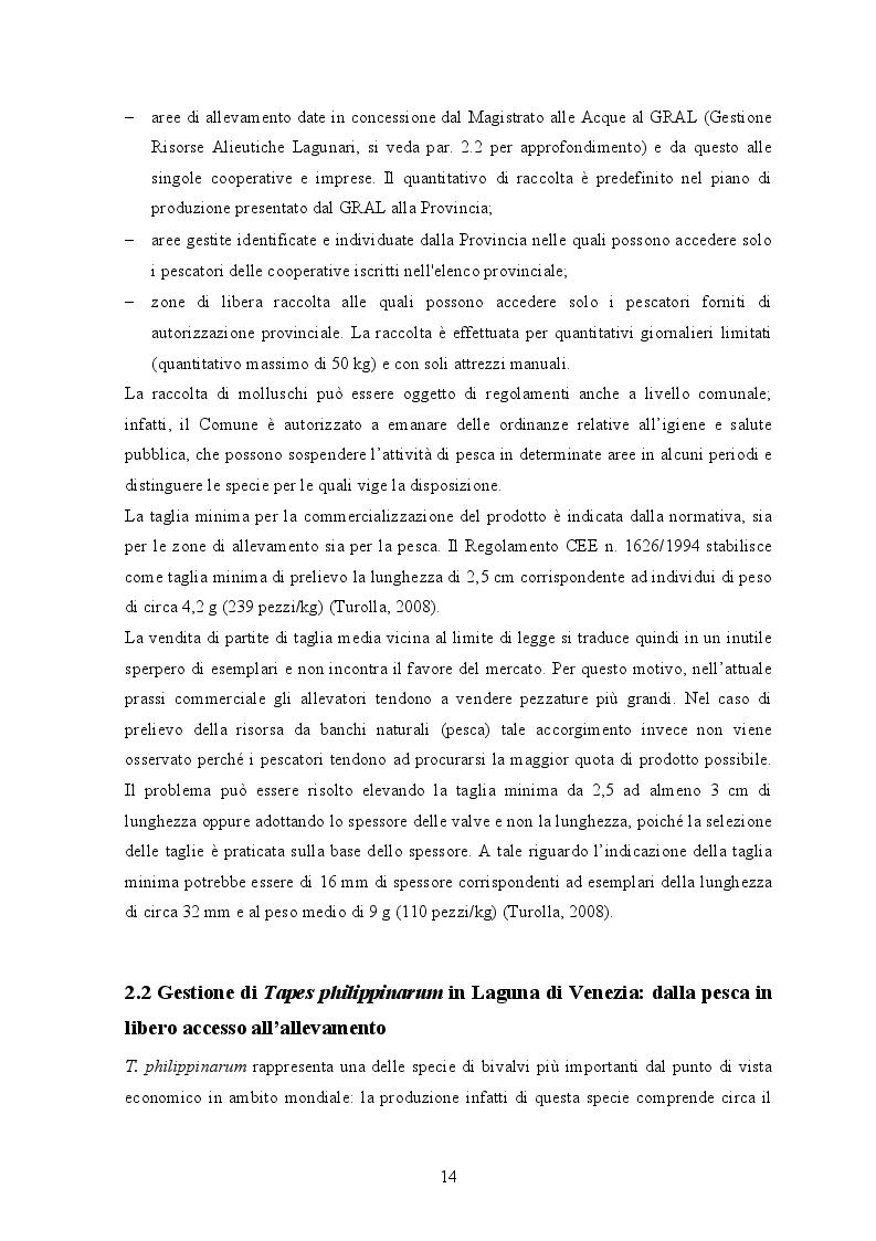 Estratto dalla tesi: Gestione dei banchi di seme di Tapes Philippinarum in Laguna di Venezia: applicazione di un modello di vocazionalità