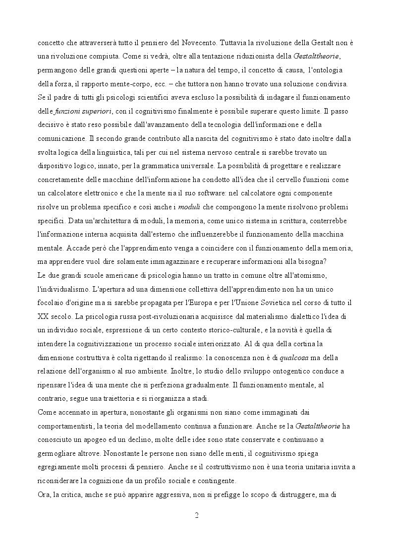 Estratto dalla tesi: Psicologia e apprendimento: le critiche di Merleau-Ponty e Simondon