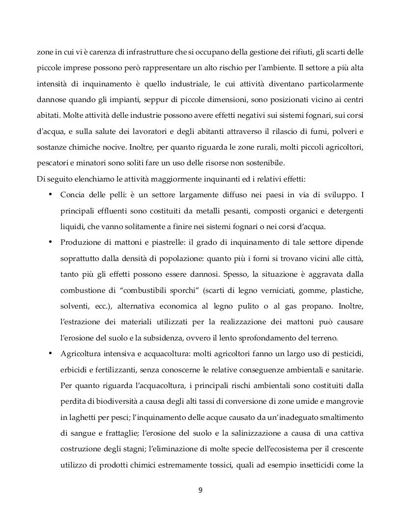 Estratto dalla tesi: Misurare l'impatto ambientale della microfinanza: un'analisi su dati mix-market