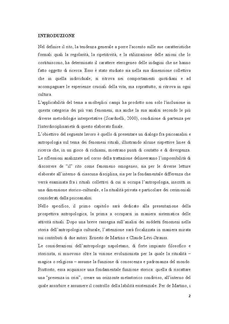 Anteprima della tesi: Orizzonti rituali tra antropologia e psicoanalisi, Pagina 2