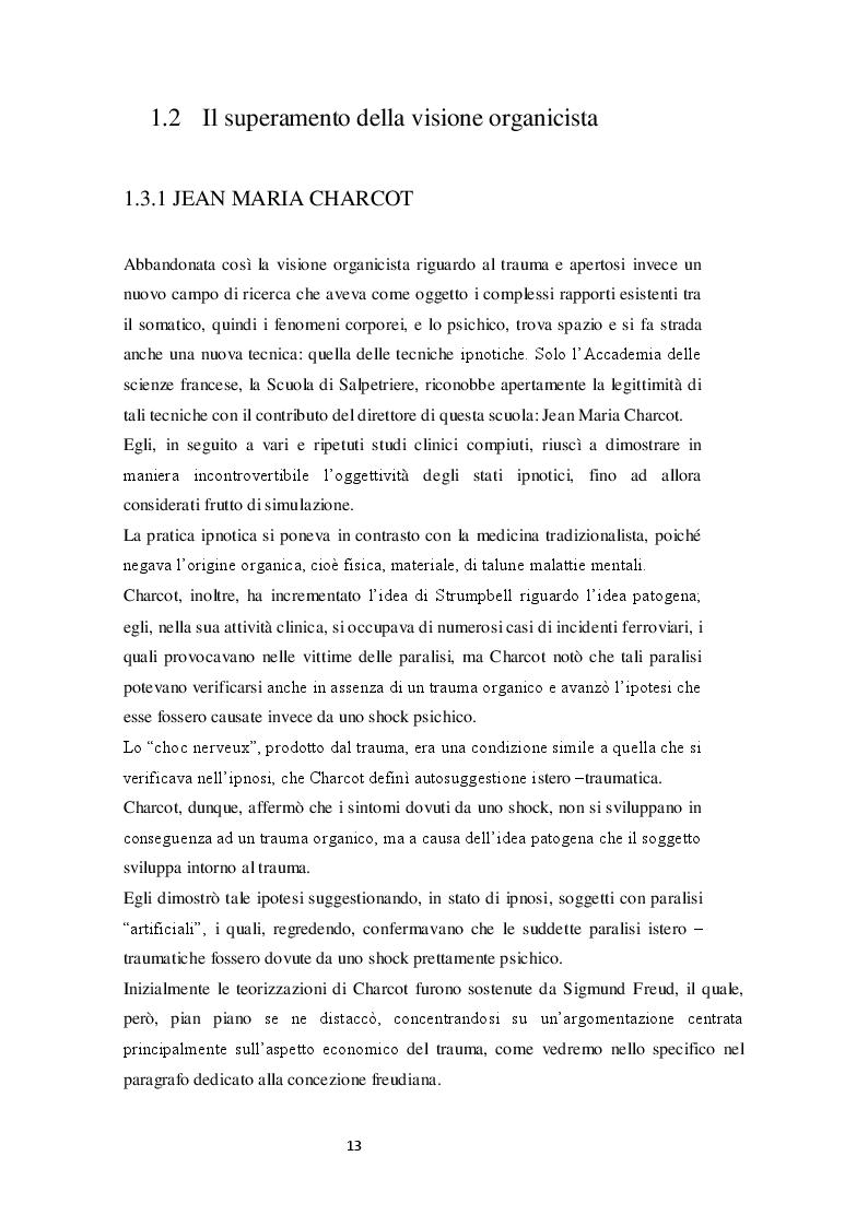 Estratto dalla tesi: Il concetto di trauma nella psicologia clinica: analisi critica  della letteratura