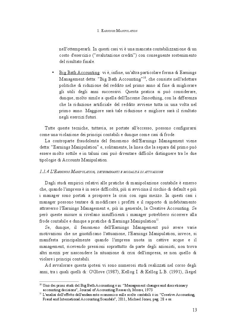 Estratto dalla tesi: L'analisi della manipolazione dei conti aziendali: il Manipulation Score in Italia