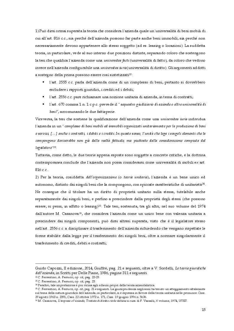 Estratto dalla tesi: Il trasferimento del ramo d'azienda