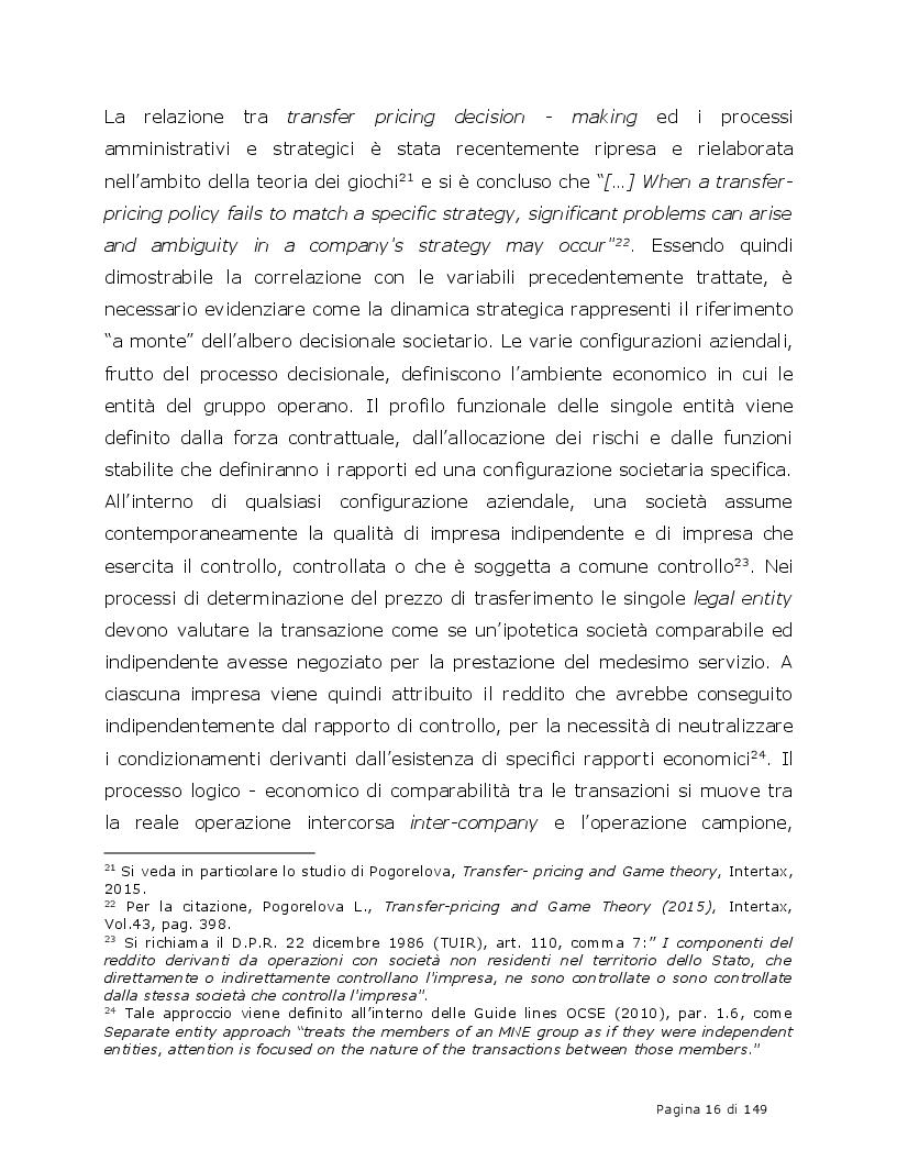 Estratto dalla tesi: Accordi di Ripartizione dei Costi derivanti dalla prestazione di servizi infragruppo (CCA)