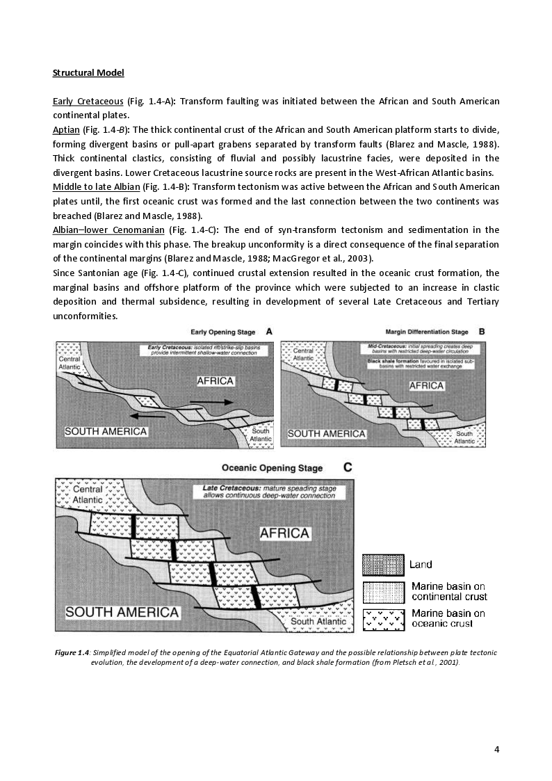 Estratto dalla tesi: Sedimentological and paleoceanographic characterization of the source rock intervals in the West-African Atlantic margin