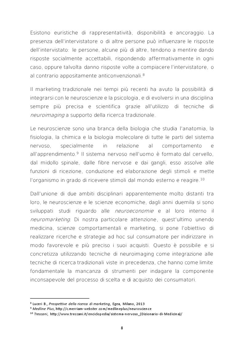 Estratto dalla tesi: La promozione neuropsicologica delle vendite di ortofrutta