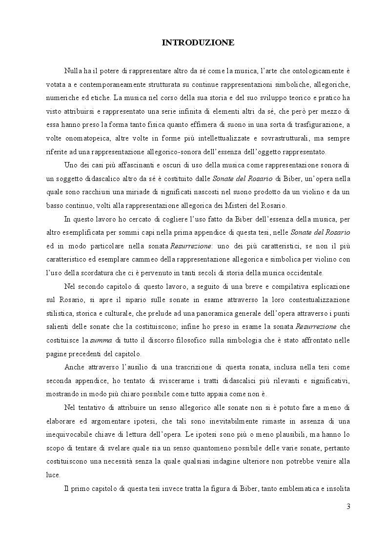 Anteprima della tesi: Heinrich Ignaz Franz Biber von Bibern e le sue Sonate del Rosario, Pagina 2