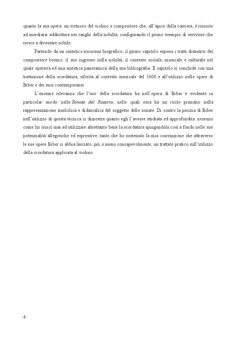 Anteprima della tesi: Heinrich Ignaz Franz Biber von Bibern e le sue Sonate del Rosario, Pagina 3