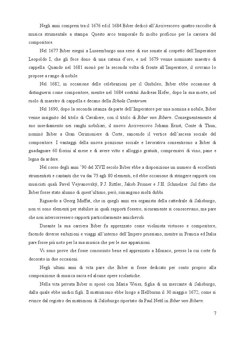 Anteprima della tesi: Heinrich Ignaz Franz Biber von Bibern e le sue Sonate del Rosario, Pagina 6