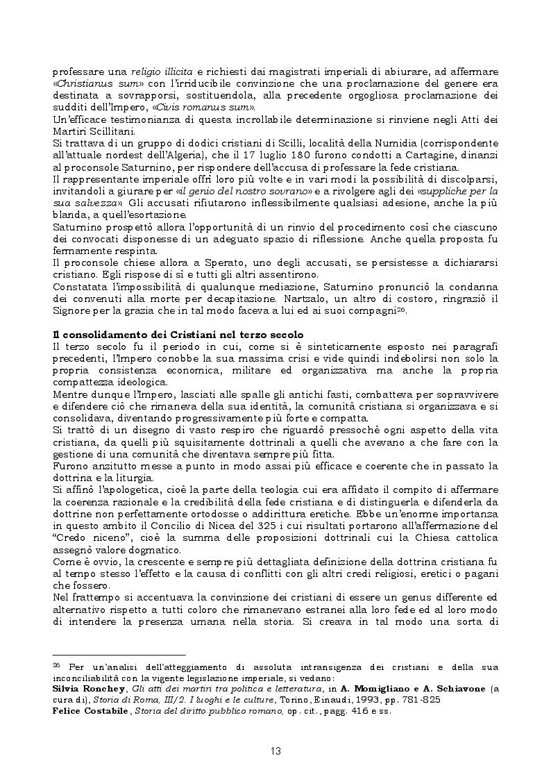 Estratto dalla tesi: La legislazione penale contro la libertà religiosa nell'Impero romano - cristiano