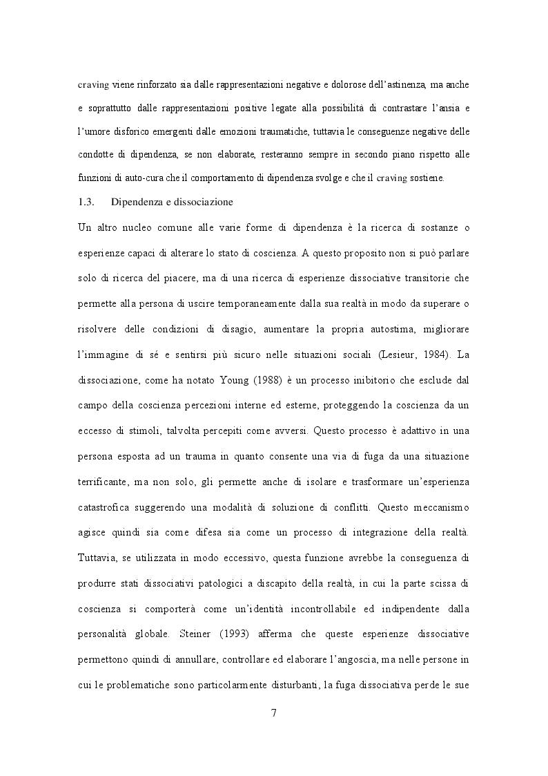 Estratto dalla tesi: Una lettura psicoanalitica della dipendenza da cocaina