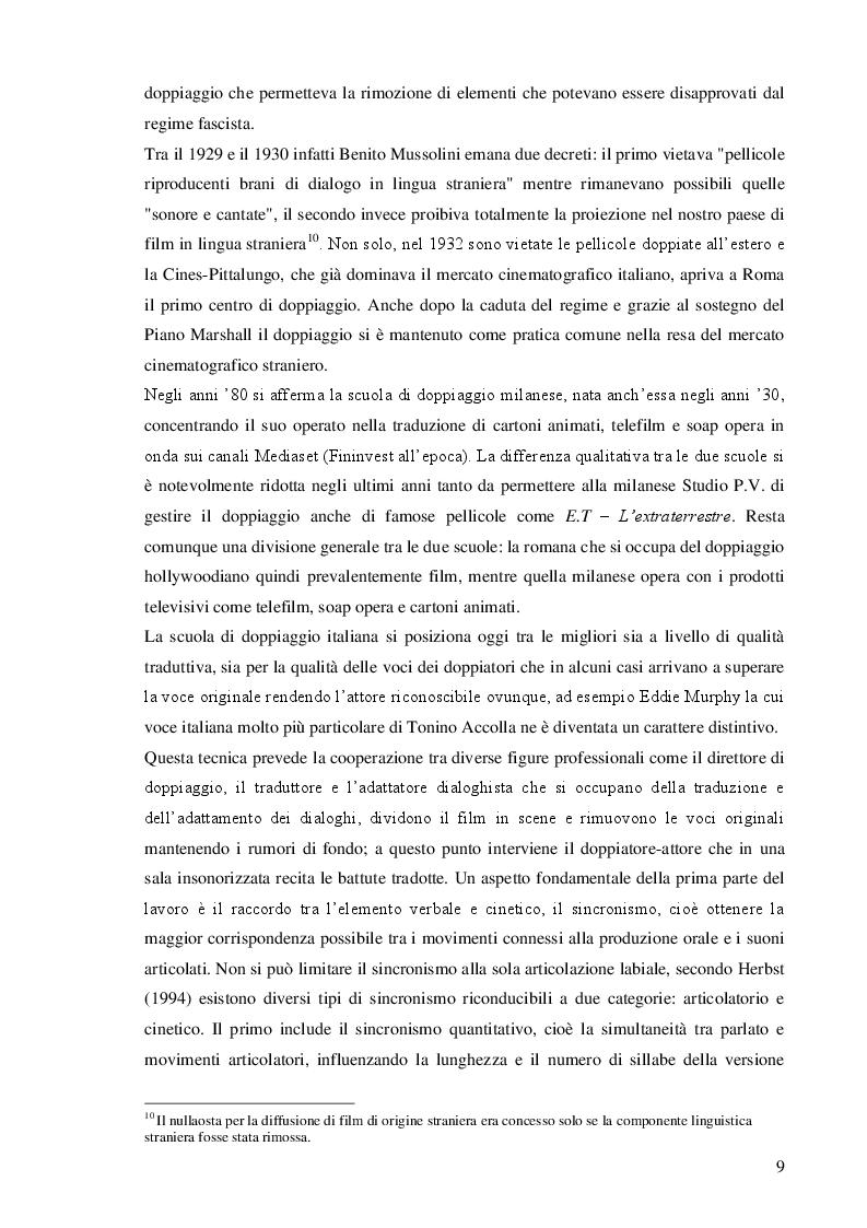 Anteprima della tesi: La famiglia Simpson tra traduzione e doppiaggio, Pagina 7