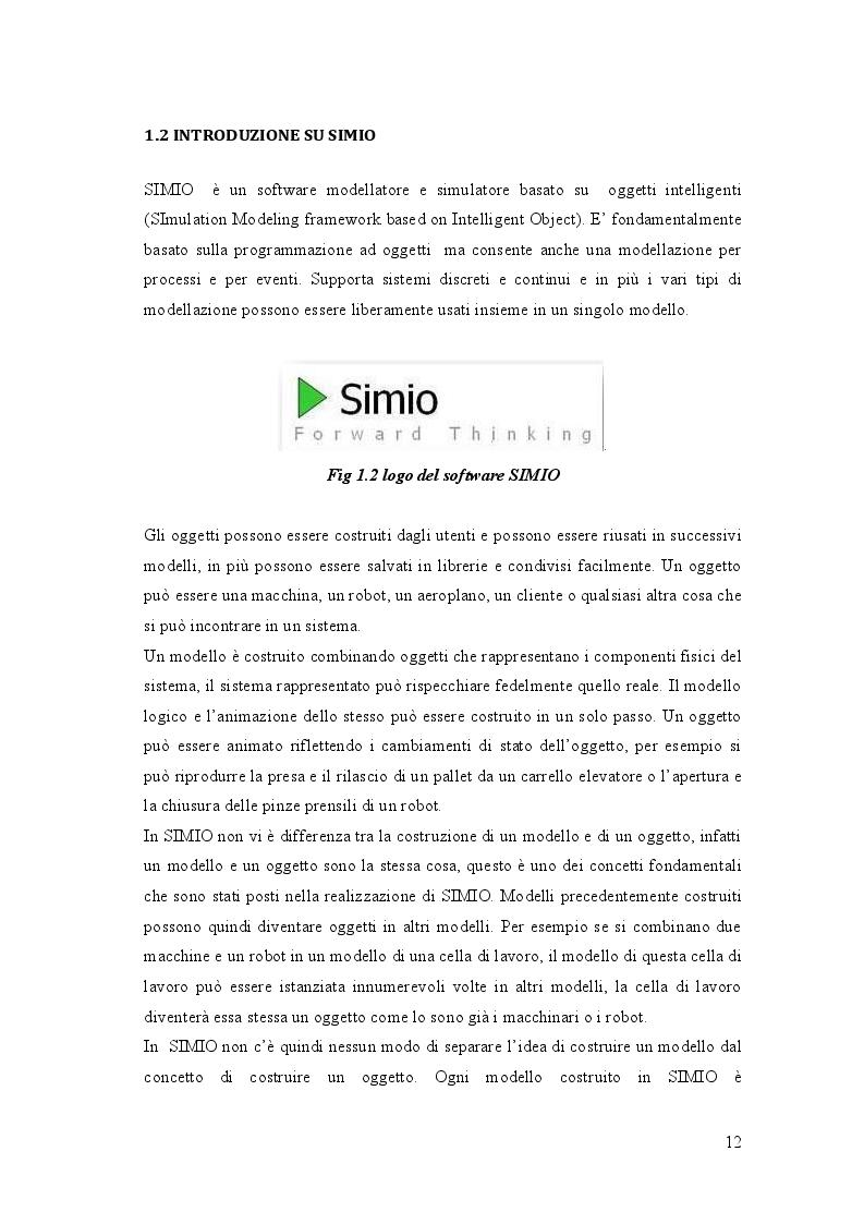 Estratto dalla tesi: L'approccio ad oggetti per la simulazione di sistemi produttivi: Simio