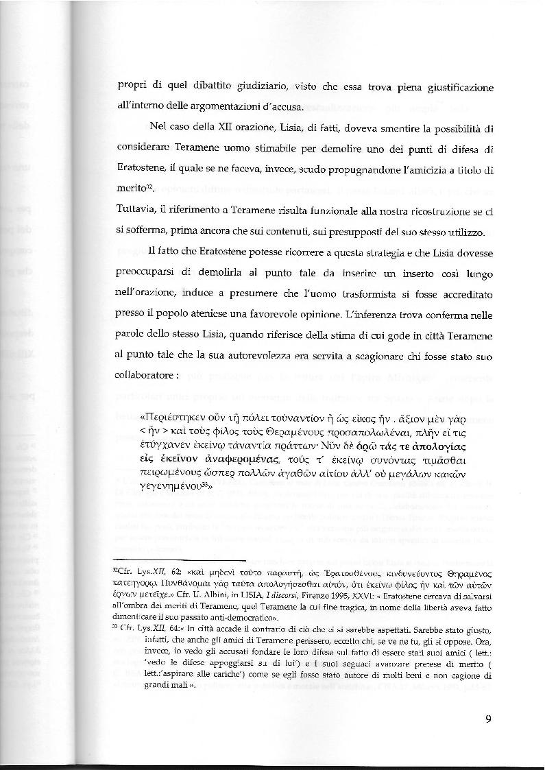Estratto dalla tesi: La testimonianza di Aristotele nella tradizione storiografica su Teramene