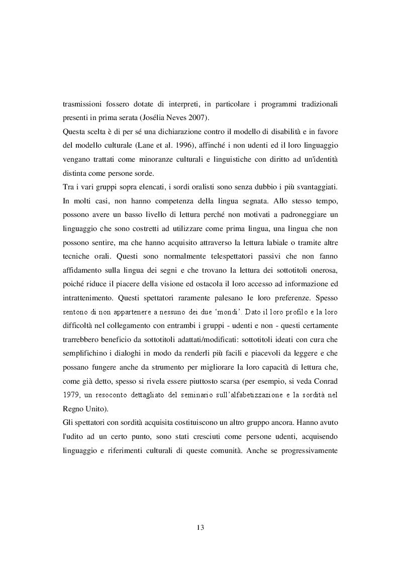 Estratto dalla tesi: La sottotitolazione in inglese per non udenti