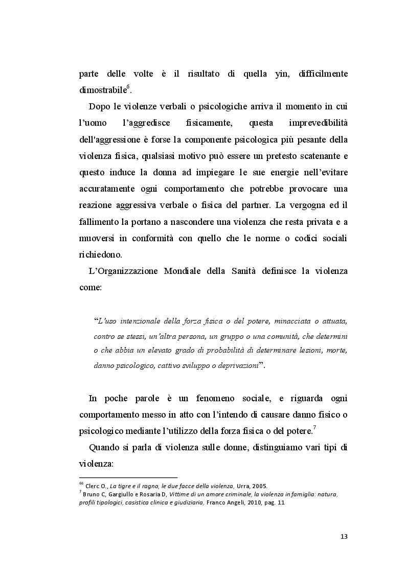 Anteprima della tesi: La perizia psichiatrica nell'autore di femminicidio, Pagina 10