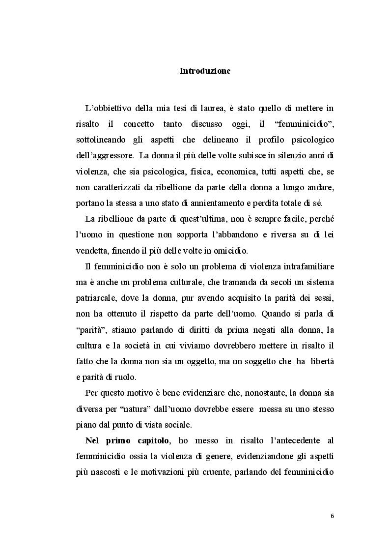 Anteprima della tesi: La perizia psichiatrica nell'autore di femminicidio, Pagina 4