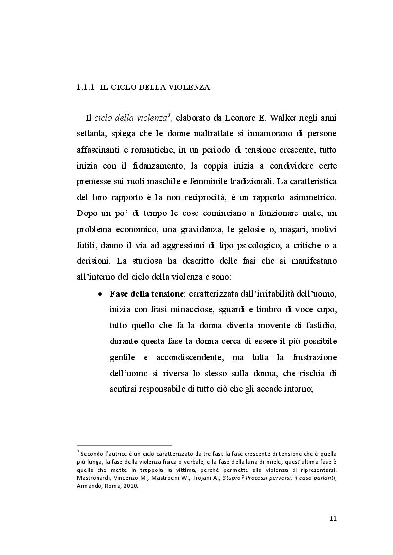 Anteprima della tesi: La perizia psichiatrica nell'autore di femminicidio, Pagina 8