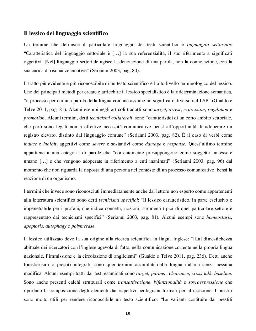"""Estratto dalla tesi: Traduzione e analisi di """"The p53 Protein"""""""