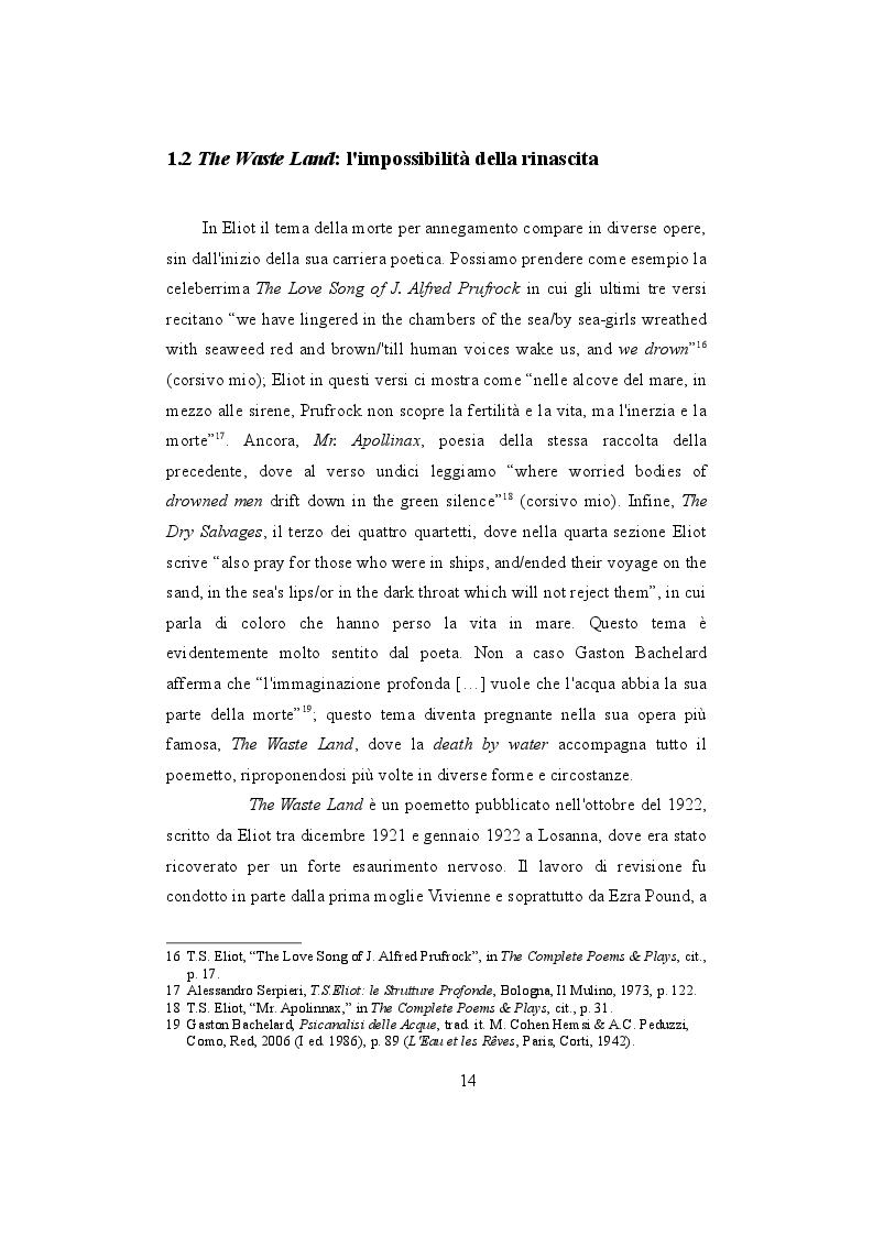 Estratto dalla tesi: ''Water, water everywhere'': l'acqua in Coleridge, Conrad, Eliot e Joyce