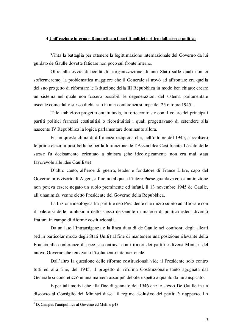Estratto dalla tesi: De Gaulle e l'Europa: un rapporto difficile 1958-1969