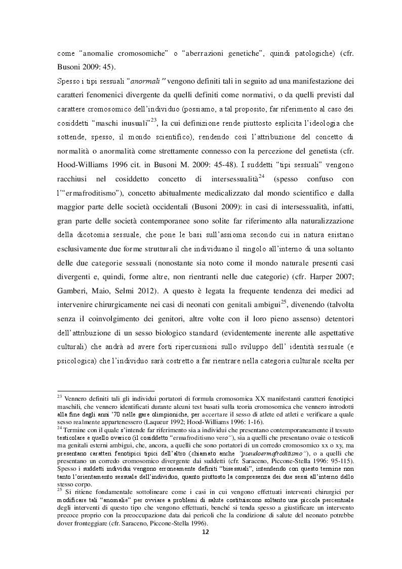 Estratto dalla tesi: Percezione del sé e costruzione di genere tra gli adolescenti. Un contributo di ricerca