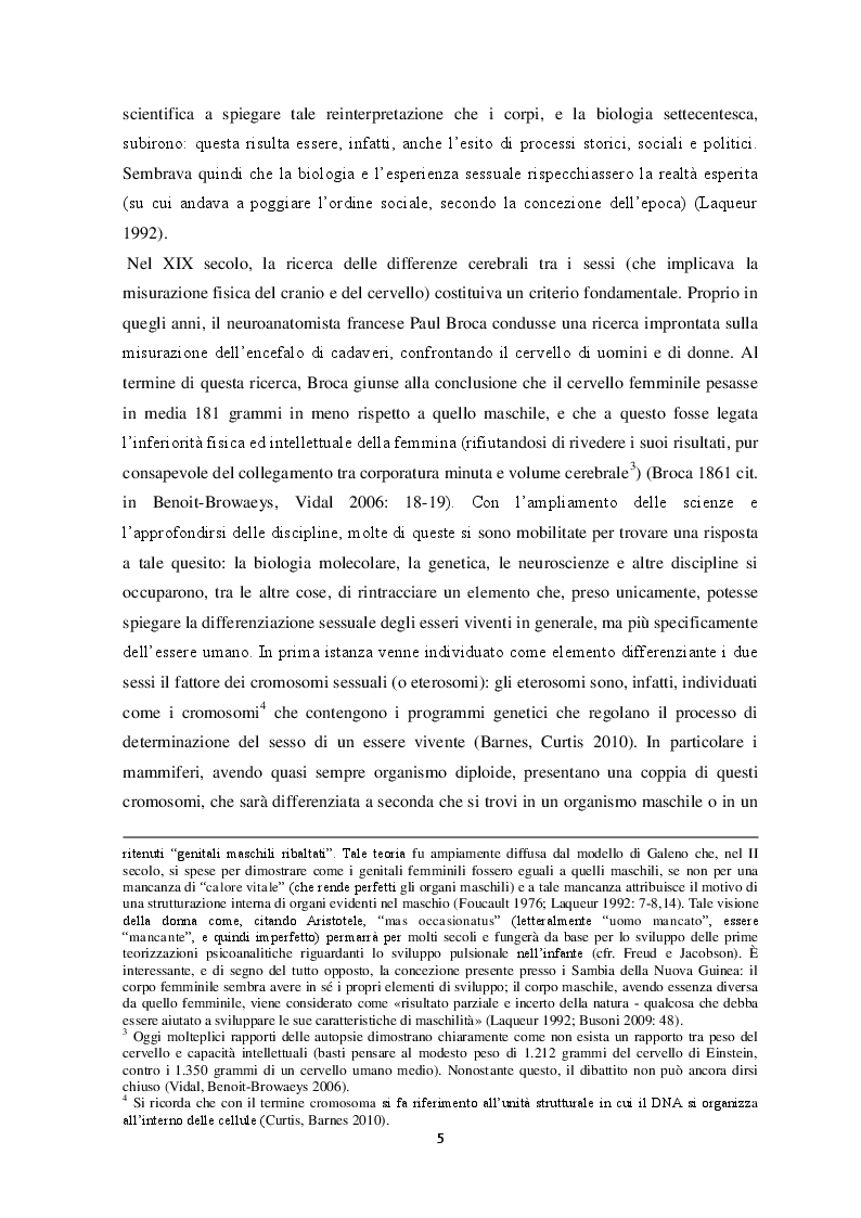 Anteprima della tesi: Percezione del sé e costruzione di genere tra gli adolescenti. Un contributo di ricerca , Pagina 6