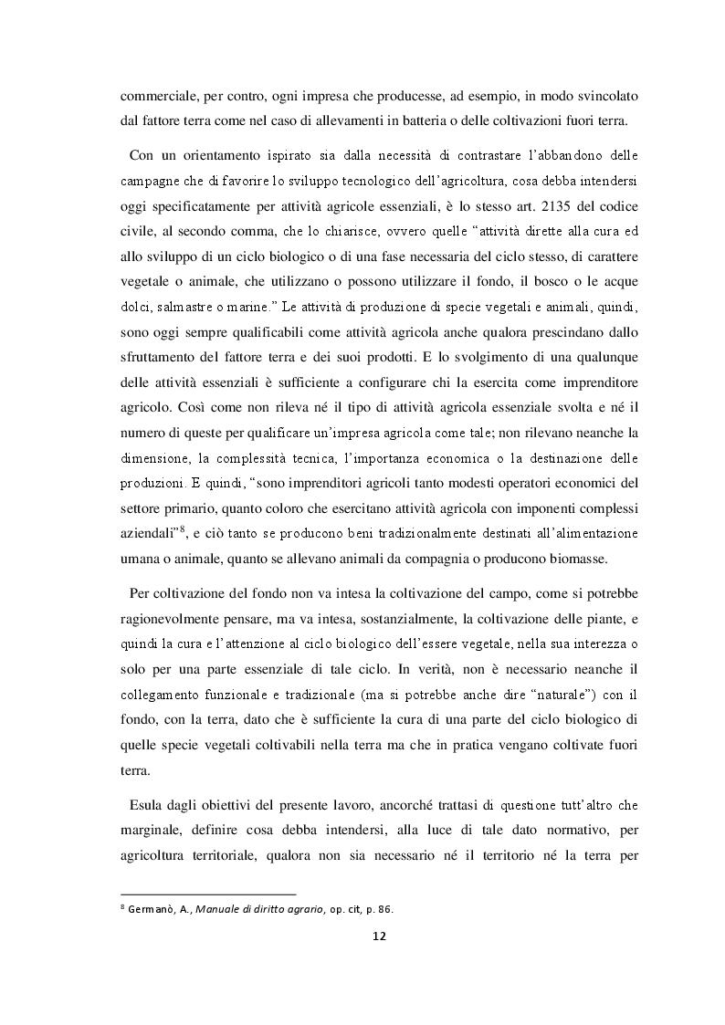 Estratto dalla tesi: Impresa agricola e rapporti per l'inclusione socio-lavorativa