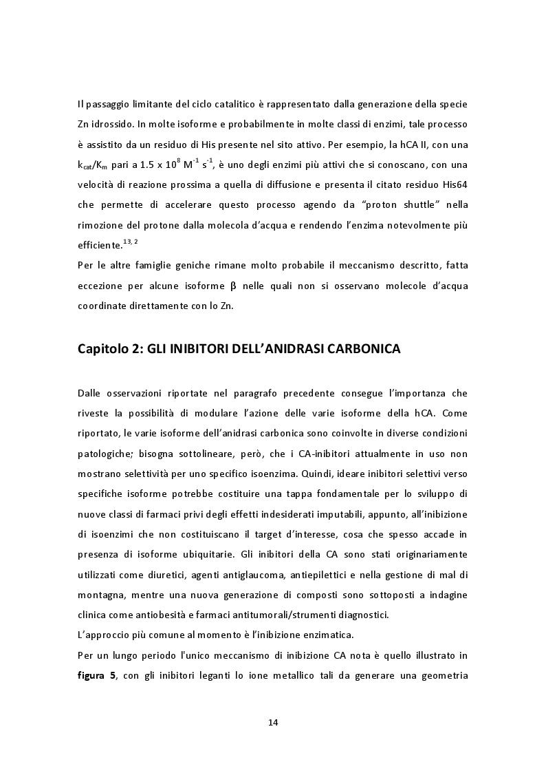 Estratto dalla tesi: Impatto della stereochimica sull'inibizione dell'Anidrasi Carbonica da parte di nuovi derivati del Probenecid