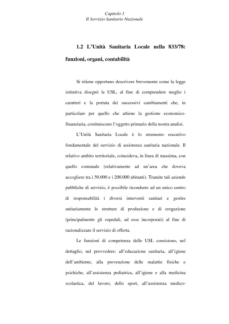 Anteprima della tesi: Il controllo economico di gestione nelle aziende sanitarie, Pagina 12