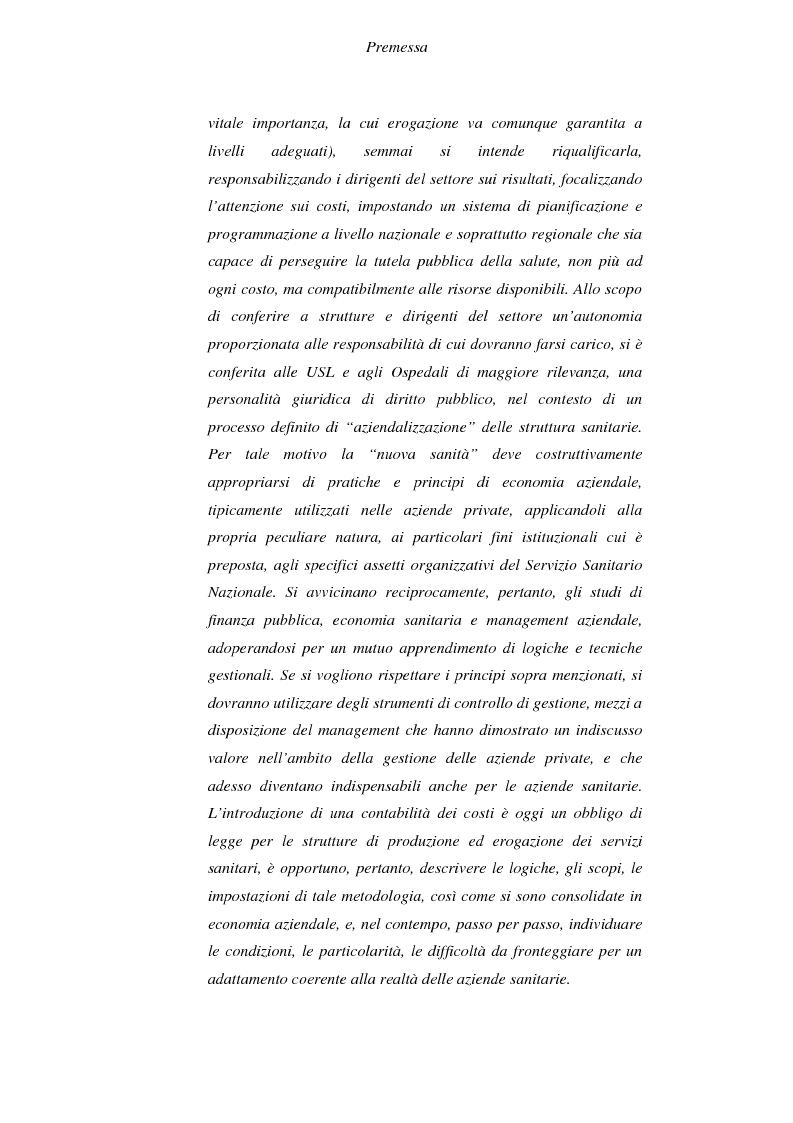 Anteprima della tesi: Il controllo economico di gestione nelle aziende sanitarie, Pagina 2